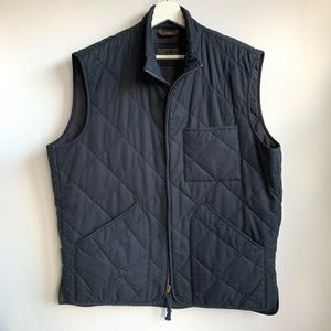 J. Crew navy blue quilted full zip outerwear vest